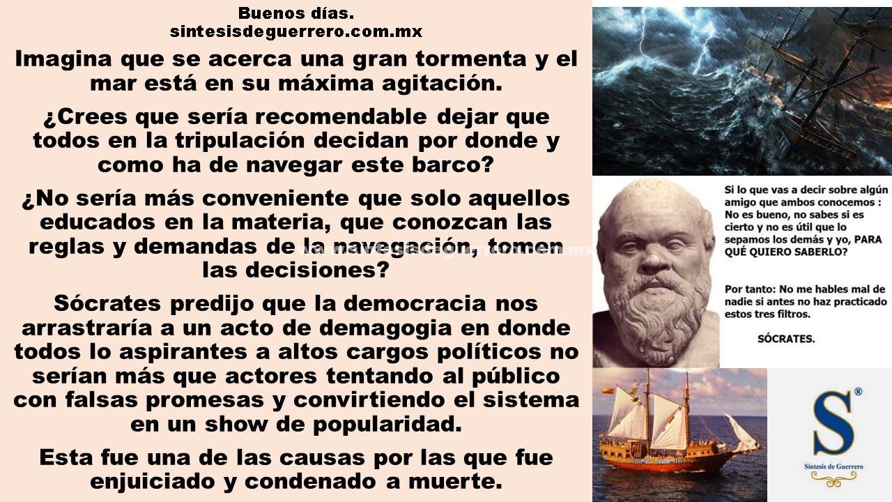 Buenos días. Sócrates y la democracia