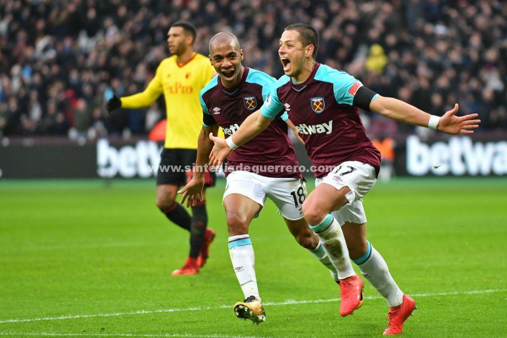 Golazo de Chicharito; West Ham vence al Watford