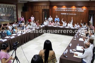 Aprueba Cabildo de Acapulco presupuesto de egresos 2018