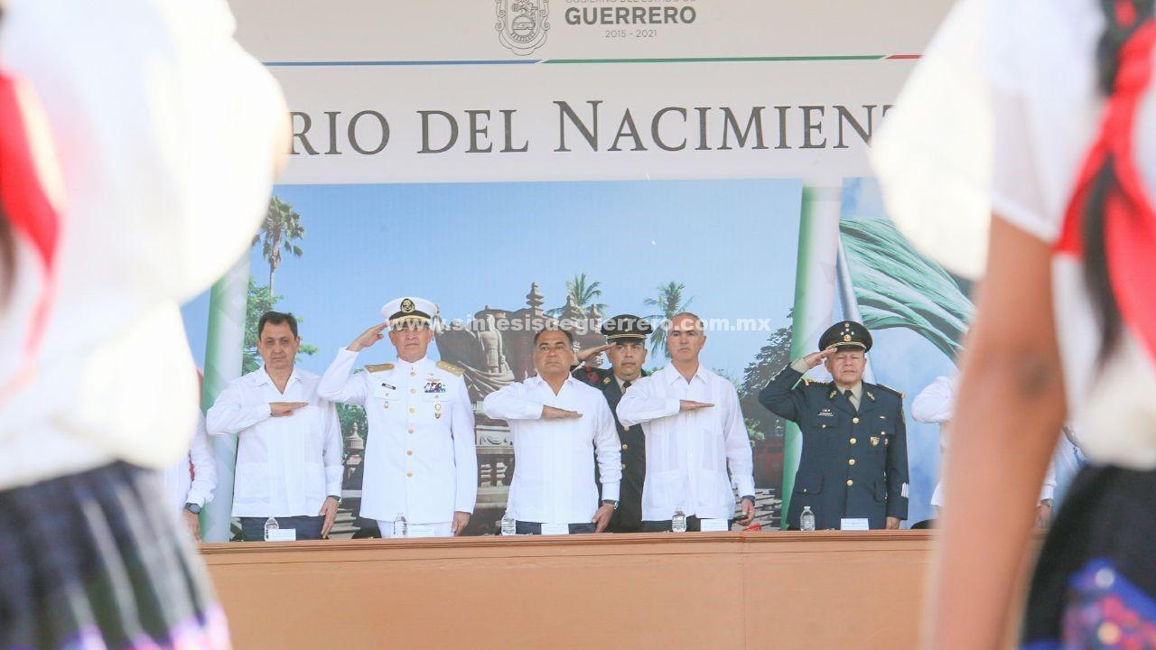 Encabezan gobernador Astudillo y titular de SAGARPA ceremonia por el Día de la Bandera