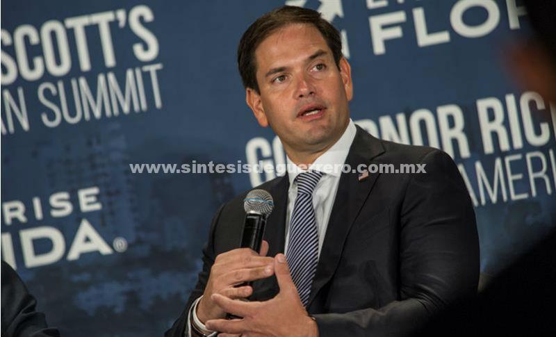 Marco Rubio dice que el mundo apoyaría un golpe de Estado contra Maduro