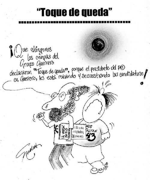 """El Cartón de Nacho's: """"Toque de queda"""""""