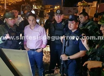 Supervisan Evodio y Grupo de Coordinación Acapulco operativos de seguridad en zona poniente