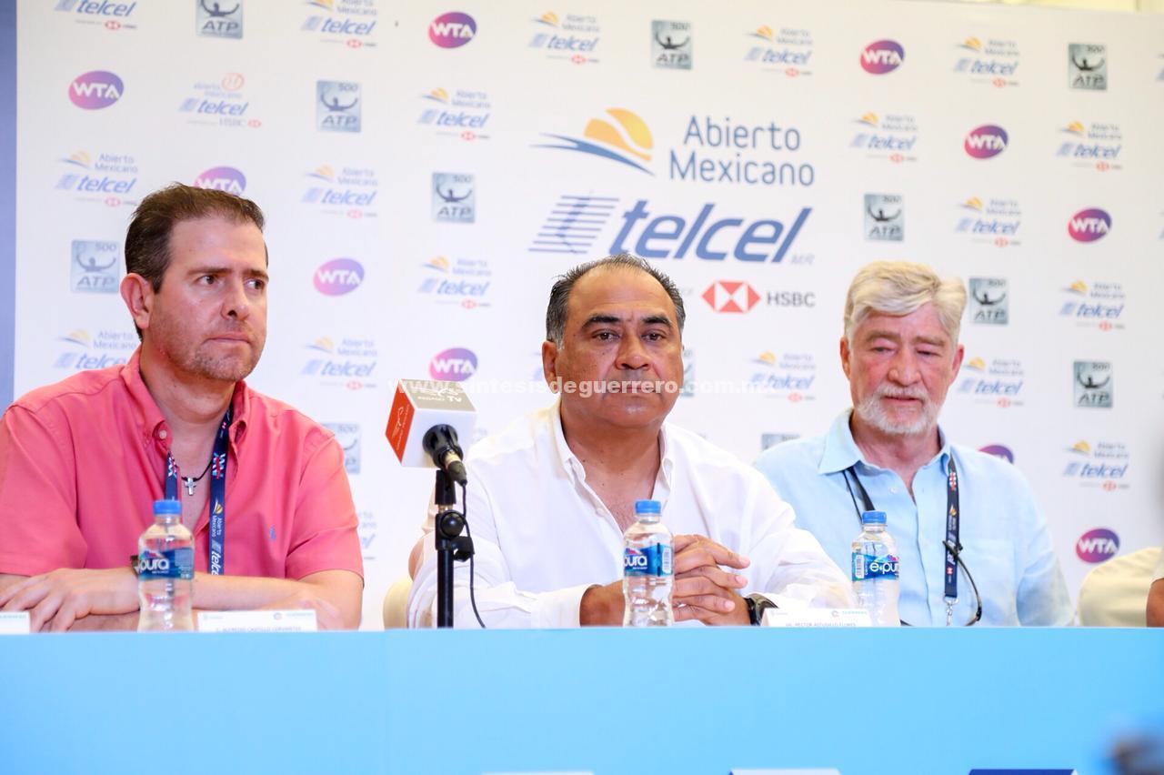 Anuncian Héctor Astudillo y Alejandro Burillo la permanencia en Acapulco del Abuerto Mexicano de Tenis
