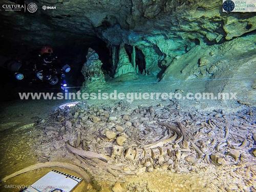 Dan a conocer hallazgos en el sitio arqueológico sumergido Sac Actun