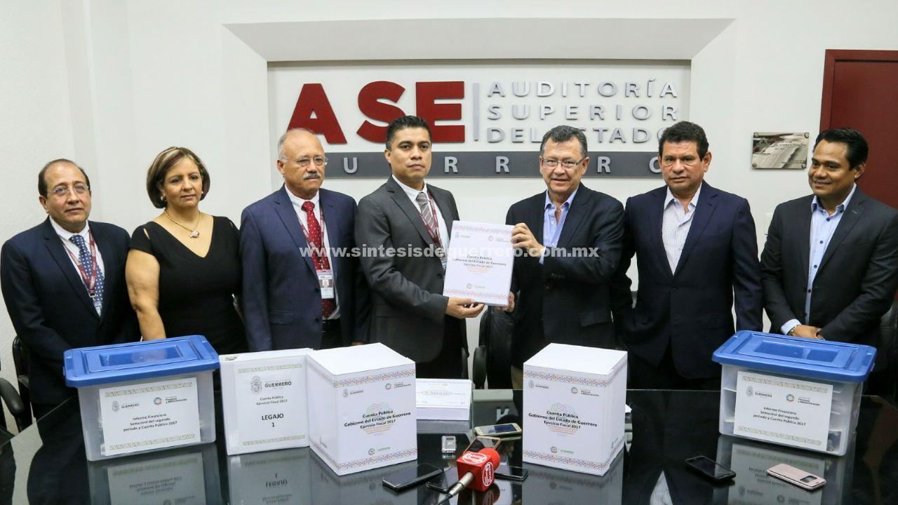 Gobierno de Guerrero entrega a la ASE Cuenta Pública 2017