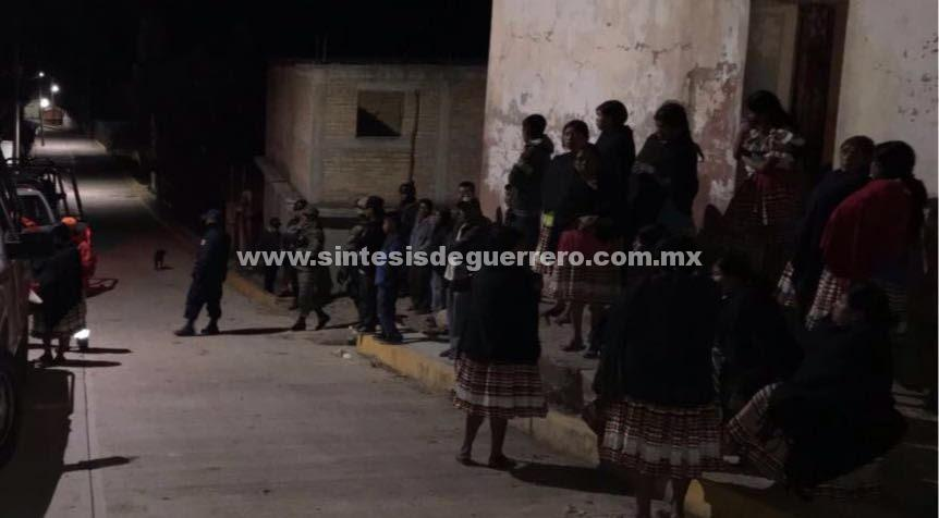 Dos heridos en ataque armado en comunidad indígena de Chilapa