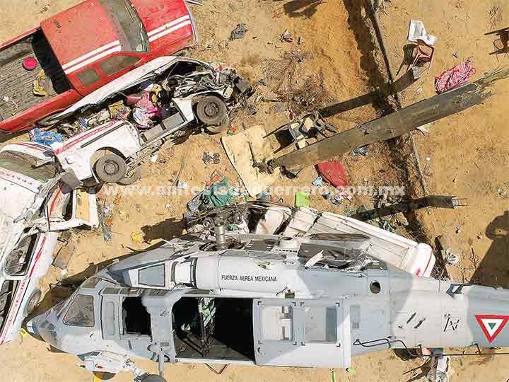 La Sedena asume culpa del accidente; desplome de helicóptero