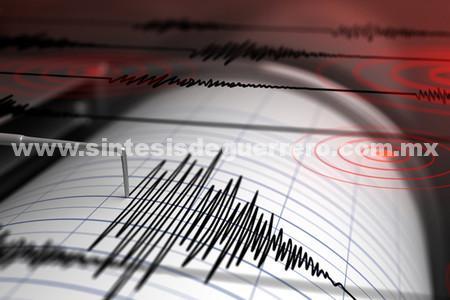 Se registran está mañana cuatro sismos en los límites de Guerrero y Oaxaca