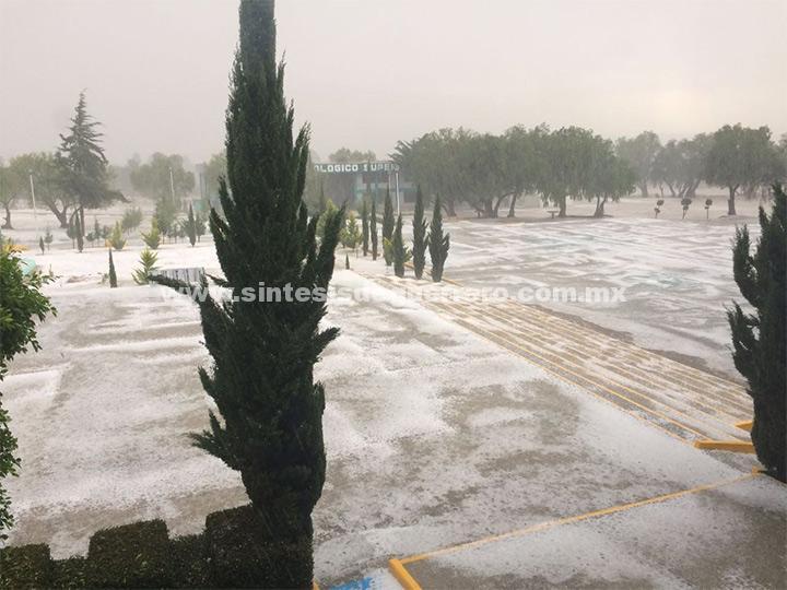 Así luce Tepeaca, Puebla, tras tarde de intensa lluvia y granizo