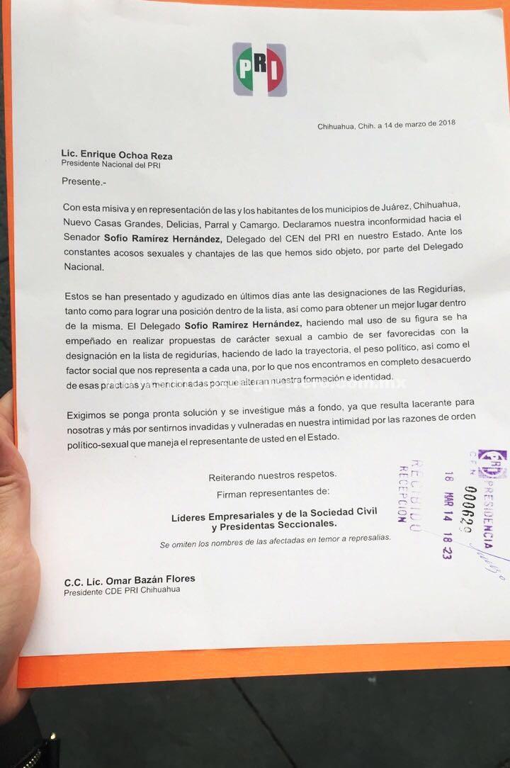 Mujeres de Chihuahua acusan a Sofio Ramírez por acoso sexual