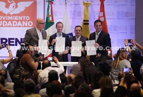 Frente nombra a Mancera coordinador de gobierno de coalición