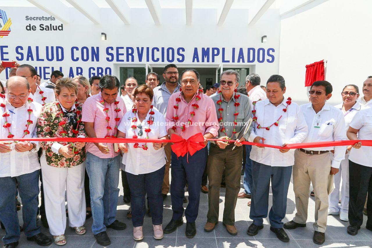 Entrega Astudillo obras de alto impacto social en Buenavista de Cuéllar; una potabilizadora y un centro de salud
