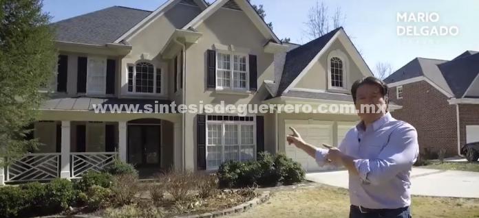 Mario Delgado viaja a Atlanta y muestra casa donde vivía Anaya