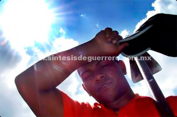 Pronostica protección civil Estatal altas temperaturas en Guerrero