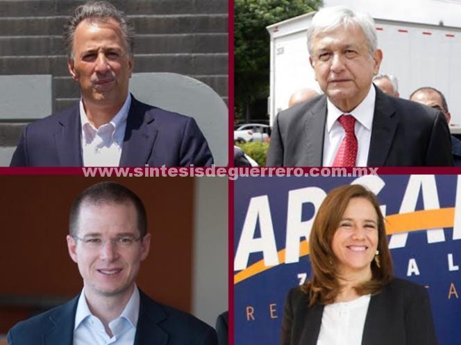 INE perfila a Meade, AMLO, Anaya y Margarita en boleta electoral