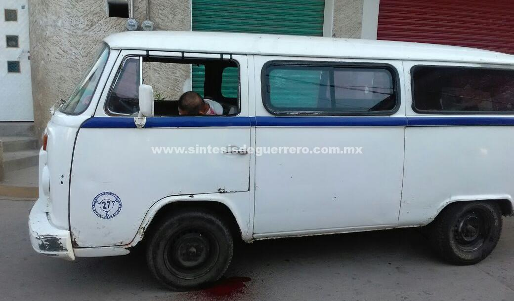 Matan a conductor del transporte público en Coyuca de Benítez