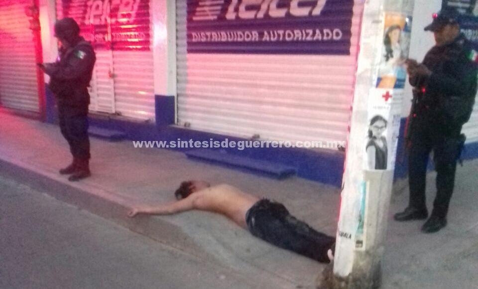 Aparece ejecutado en el centro de Iguala