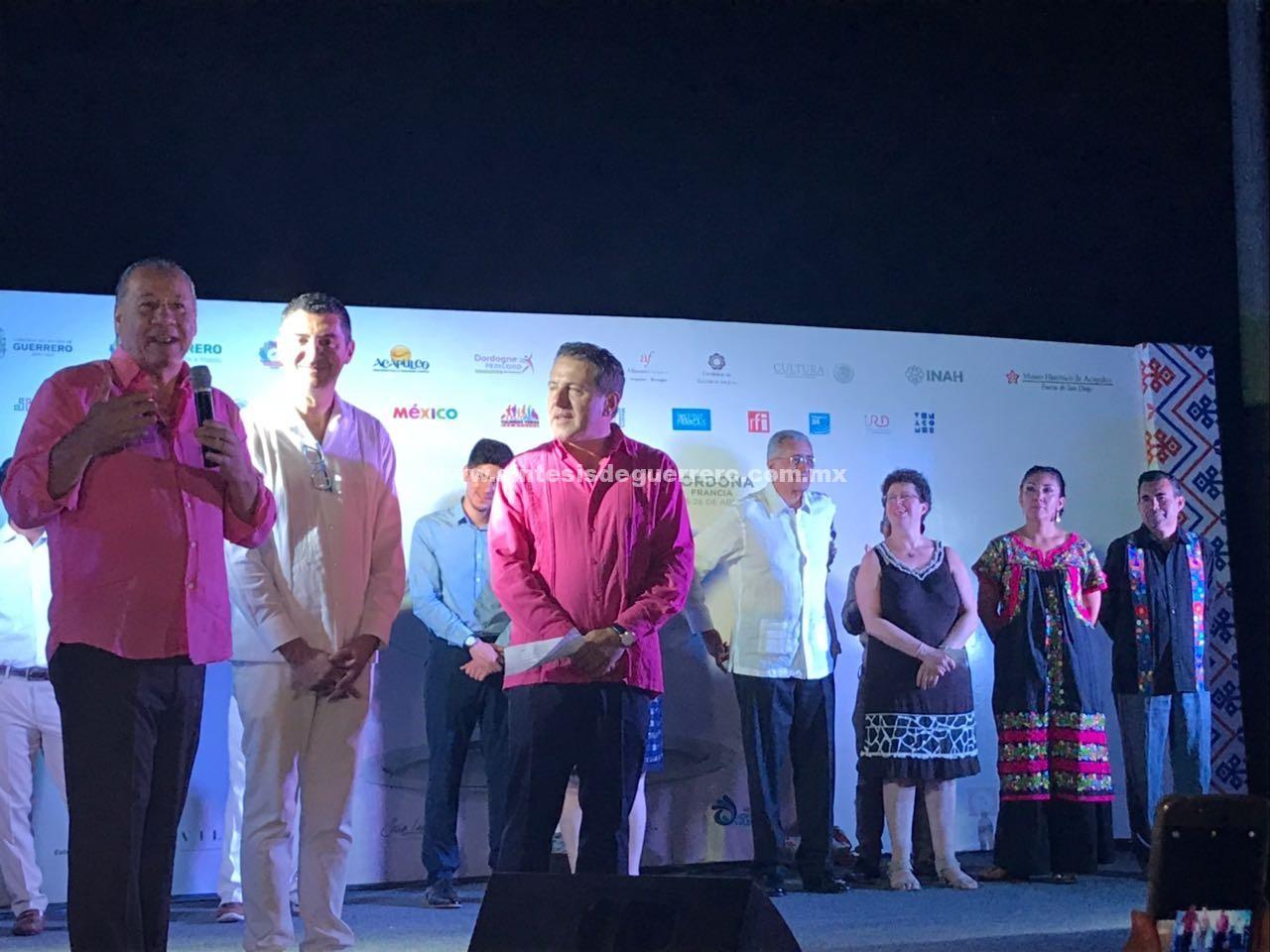 Ernesto Rodríguez Escalona inauguró el festival Franco Mexicano en Acapulco