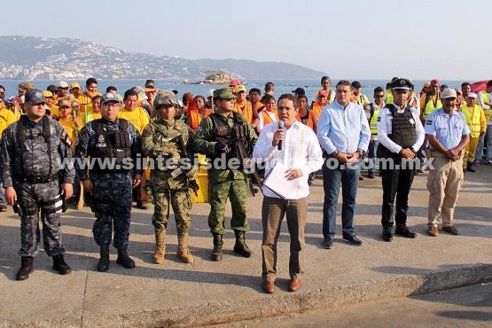 Pone Evodio en marcha operativo de Semana Santa en Acapulco