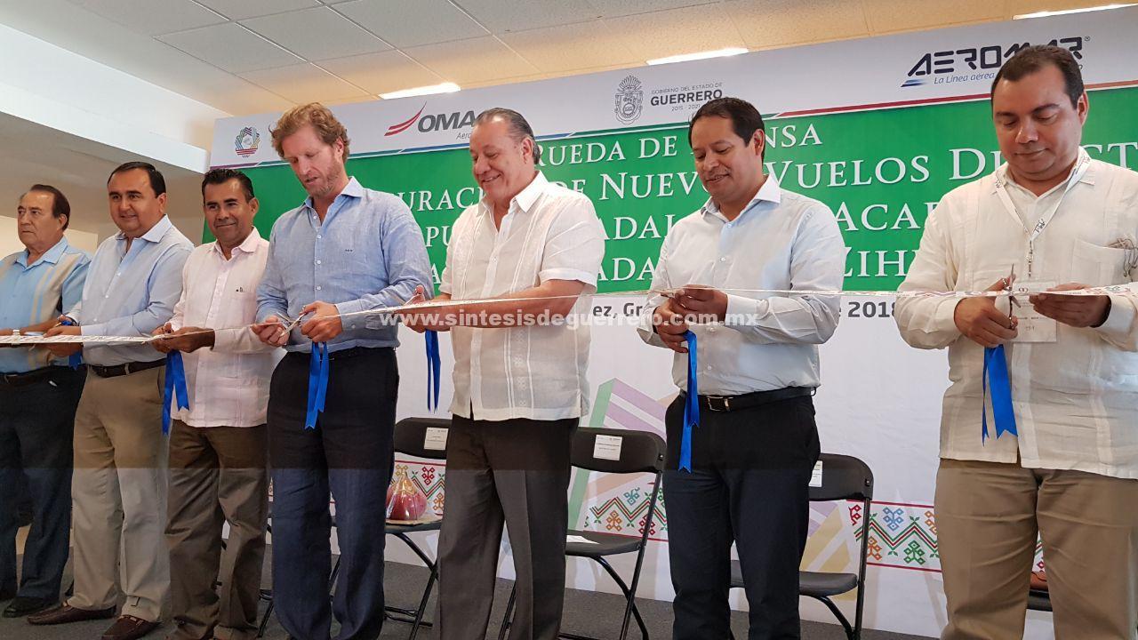 Inician operaciones dos nuevos vuelos de Aeromar en Acapulco