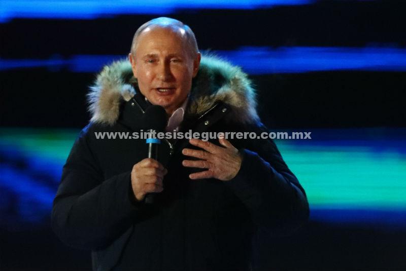 Putin proclama su victoria en las elecciones presidenciales