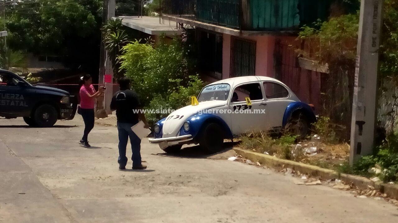 Asesinan a dos taxistas de Acapulco