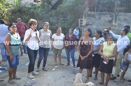 Mercedes Calvo puso en marcha obras del programa 3×1 en Acapulco
