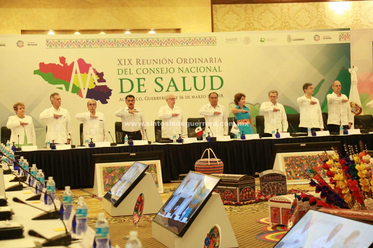 En Guerrero, inaugura Astudillo Flores y Narro Robles  los trabajos de la 19º Reunión Ordinaria del Consejo Nacional de Salud