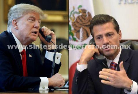 En llamada, Peña reiteró que México no pagará muro, refuta Videgaray a Trump