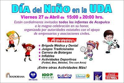 Invitan al Dìa del Niño en la Unidad Deportiva Acapulco