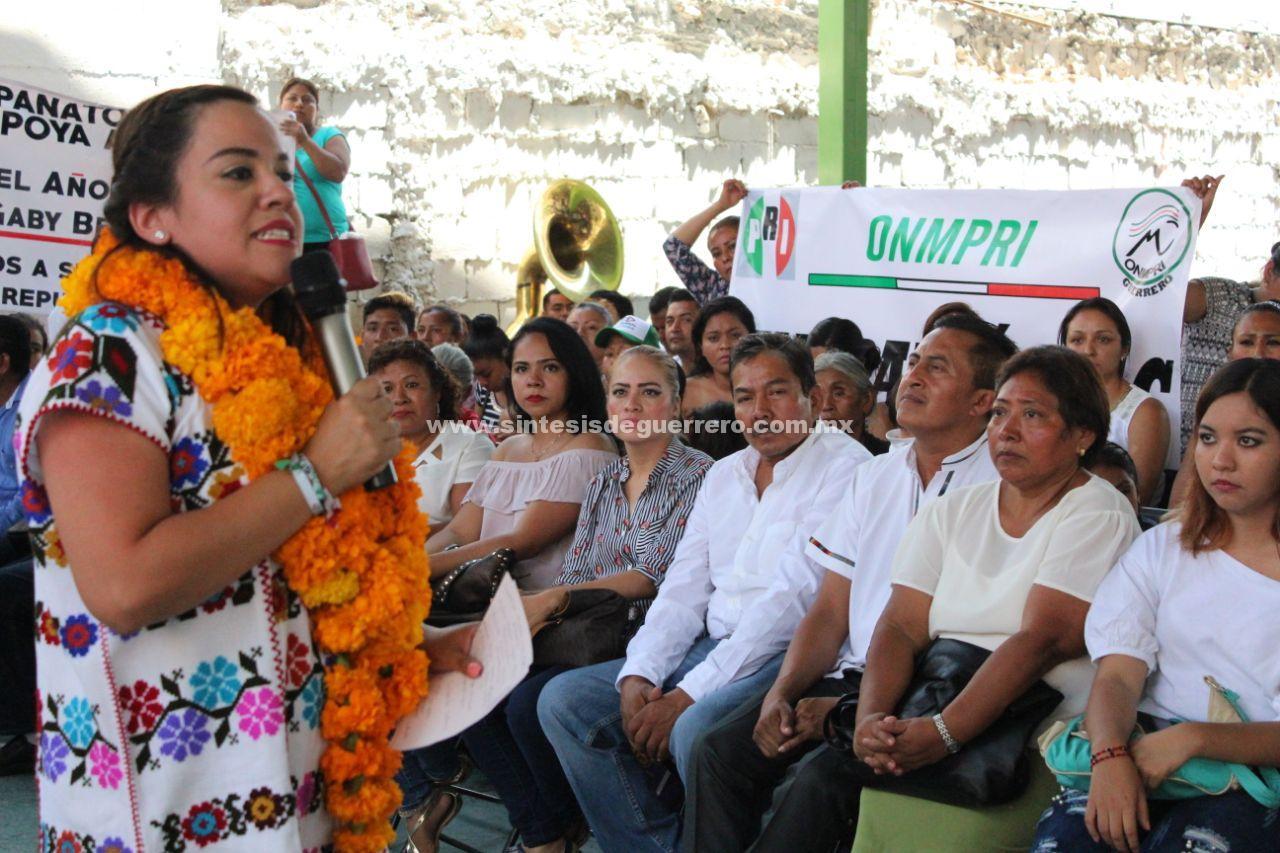Respalda la Montaña de Guerrero a Gaby Bernal para la Senaduría por Guerrero