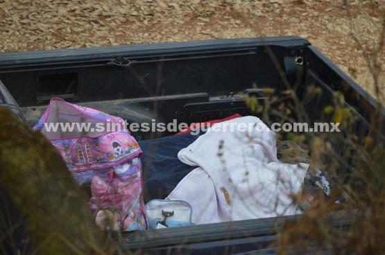 Emboscan a familia en comunidad de Chilpancingo; asesinan a mujer embarazada y su hija de seis años