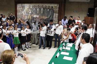 Rinden protesta integrantes del Décimo Sexto Cabildo Infantil 2018-2019