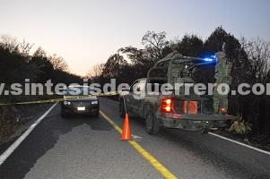 Acribillan a dos hombres en la carretera Chilpancingo-Tlacotepec