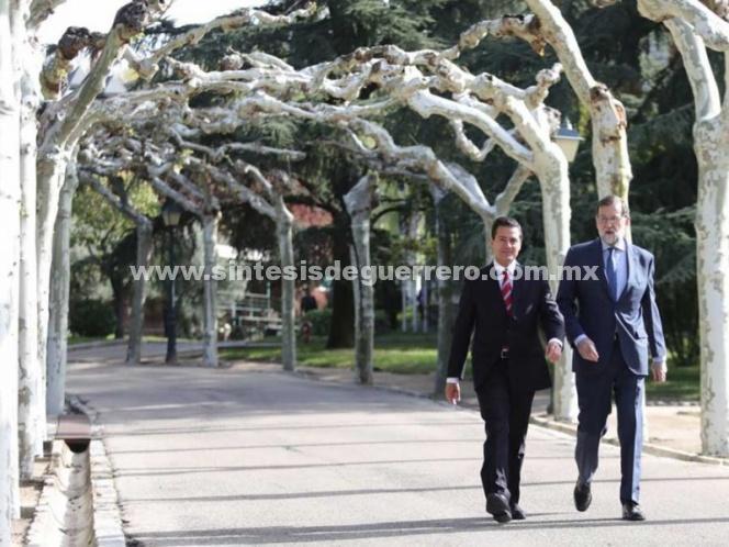 Peña Nieto y Rajoy aplauden TLC entre México y Unión Europea