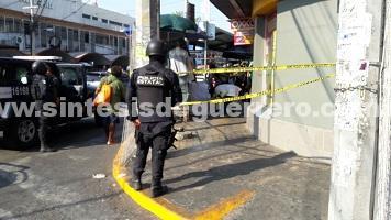 Asesinan a comerciante en el centro de Acapulco