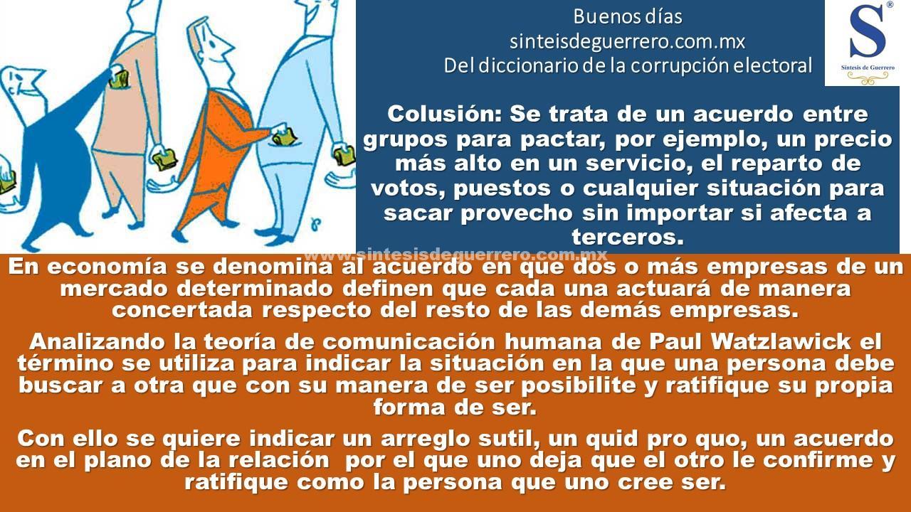 Buenos dìas. Colusiòn