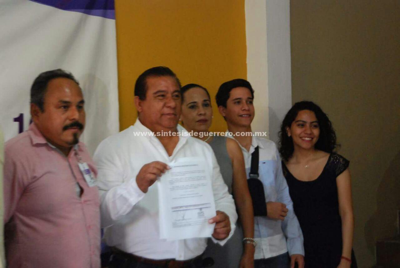 Se registra primer y único candidato independiente a diputado local, en Costa Grande
