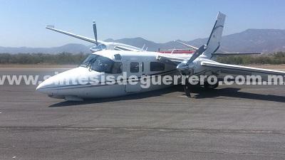 Se accidenta avioneta del Gobierno de Guerrero que recogería al Secretario de Turismo