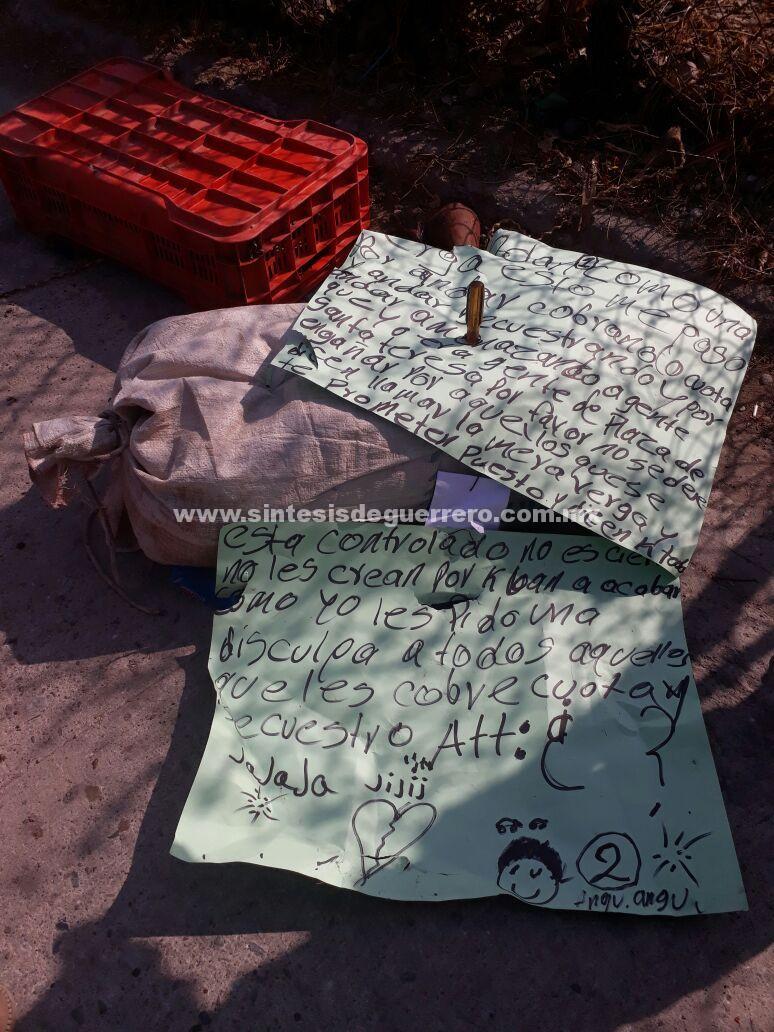 Dejan un cuerpo desmembrado en Zacacoyuca, Iguala