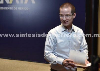 Descarta Anaya unificar candidatura con Meade