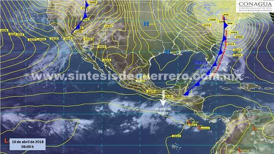 Se pronostican temperaturas elevadas y lluvias aisladas en Guerrero