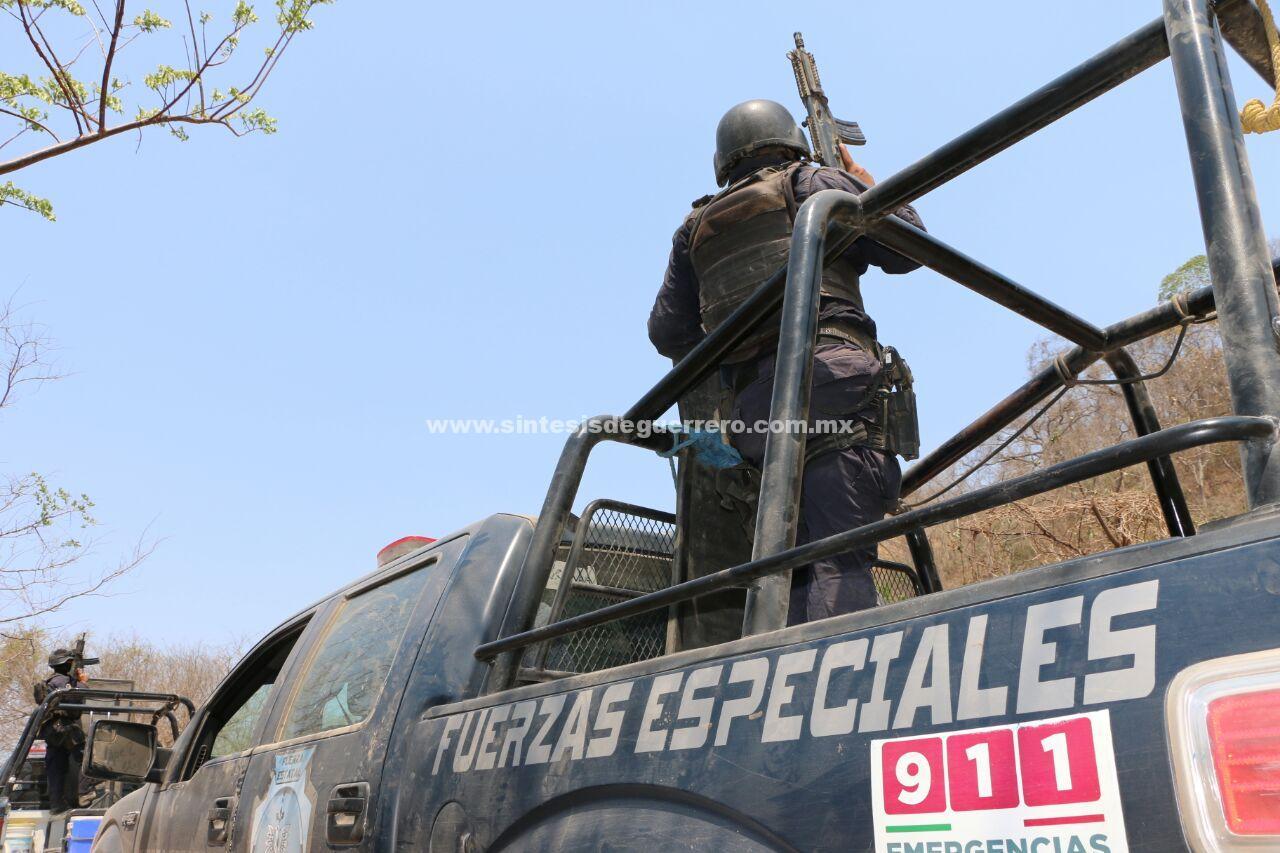 Agreden masculinos fuertemente armados a Policías Estatales y personal del Ejército