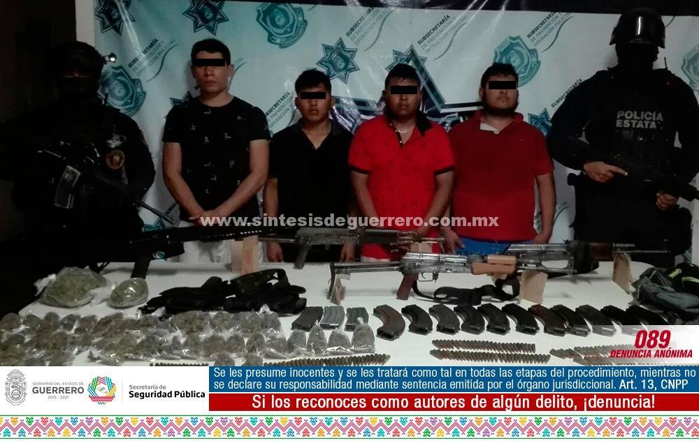 Detienen a cuatro presuntos homicidas de seis policías estatales en Zihuatanejo