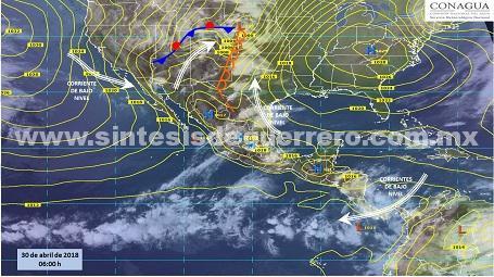 Continuarán las altas temperaturas en Guerrero; se esperan registros de 40 Grados Centígrados