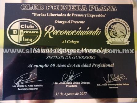 Entregarán reconocimiento por 60 años de ejercicio al periodista acapulqueño Eulalio Espinoza Marmolejo