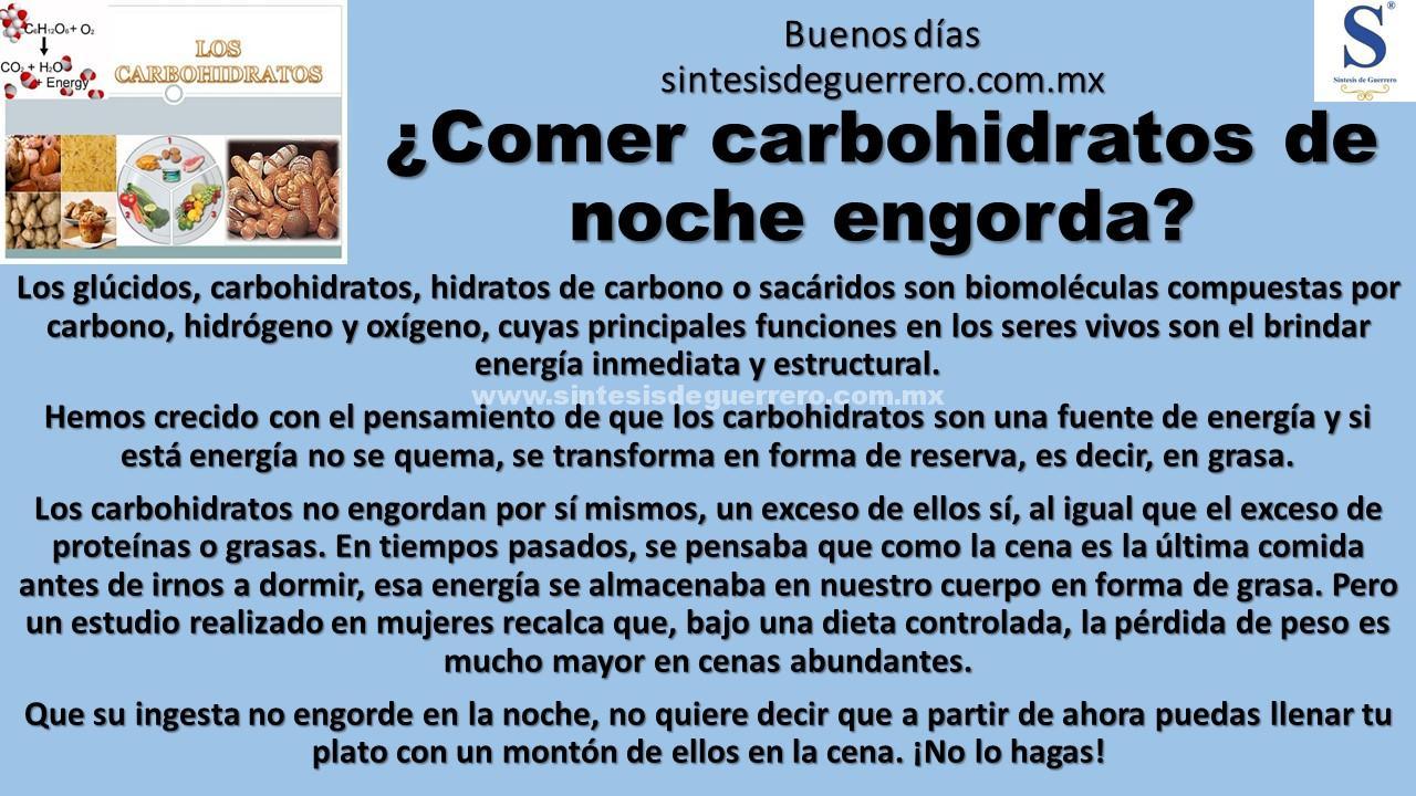 Buenos días. Carbohidratos