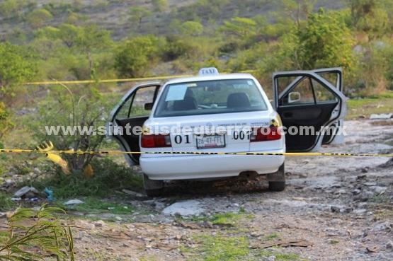 Ejecutan a taxista en el poblado de Zumpango del Río