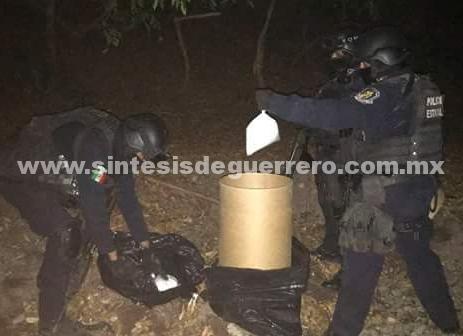 Asegura Policía Estatal en Coyuca de Catalán 47 kilos de presunta droga conocida como cristal
